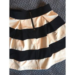 6be3fab27 Skirts | Black White Wide Stripe Skirt | Poshmark